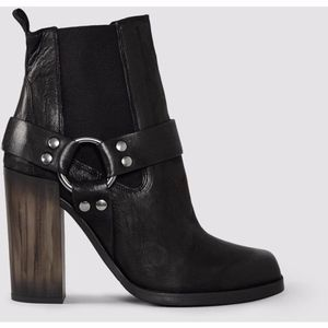 Used AllSaints Black Aiden Jules Heeled Bootie
